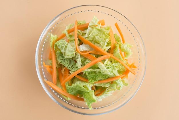 Salade de chou, salade de chou et carotte