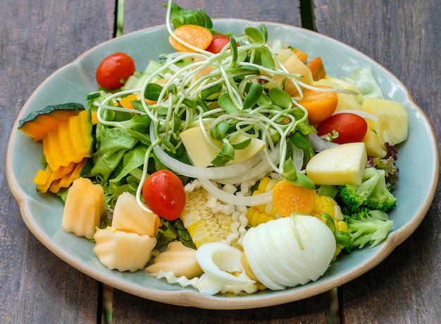 Salade de choux de tournesol
