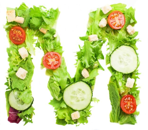 Salade délicieuse de la lettre m