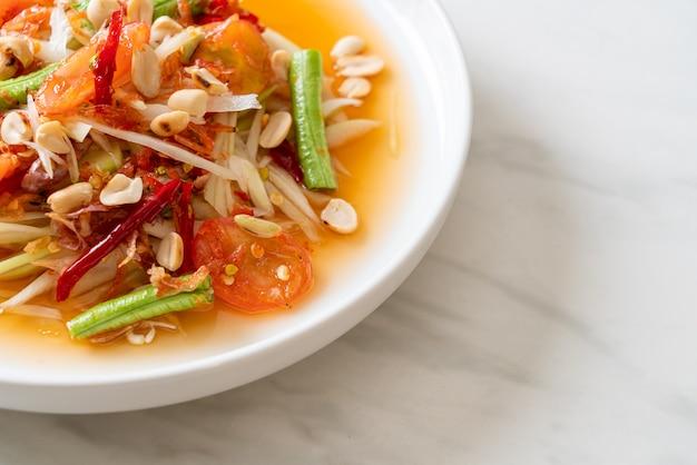 Salade épicée de papaye