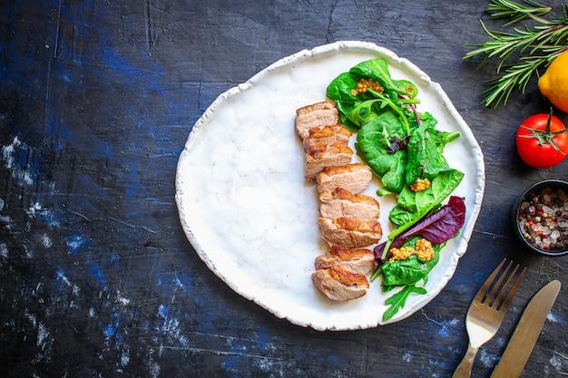 Salade de filet de magret de canard
