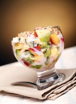 Salade de fruits au yaourt