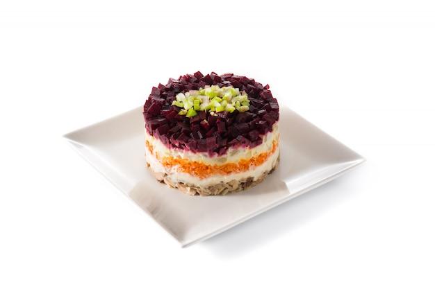 Salade de hareng russe traditionnelle