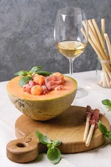 Salade de melon et jambon