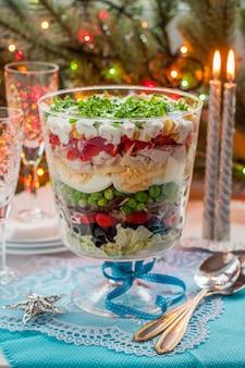 Salade de noël en couches
