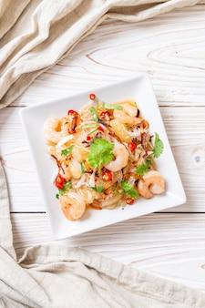 Salade pamelo épicée aux crevettes