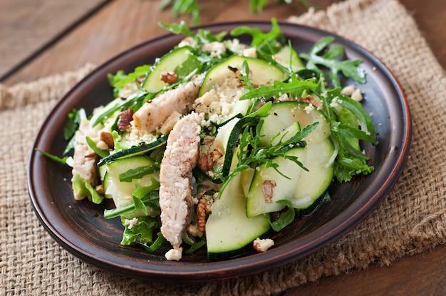 Salade de poulet et courgettes