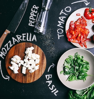 Salade sur la table