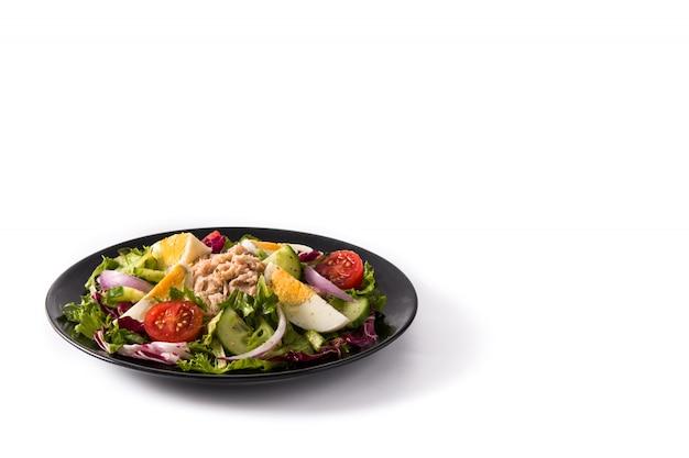 Salade de thon, œuf et légumes