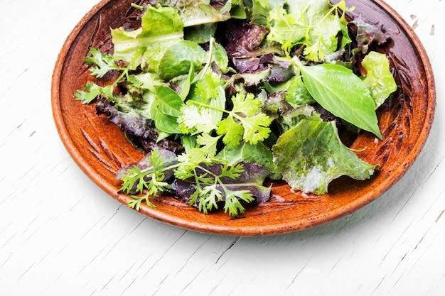 Salade végétalienne verte