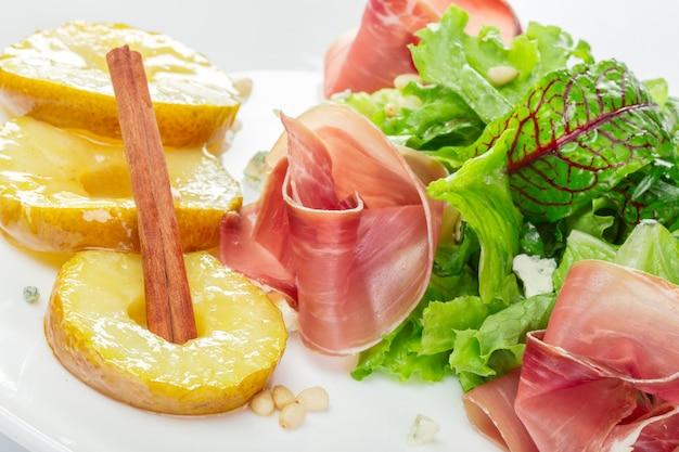 Salade verte au jamon