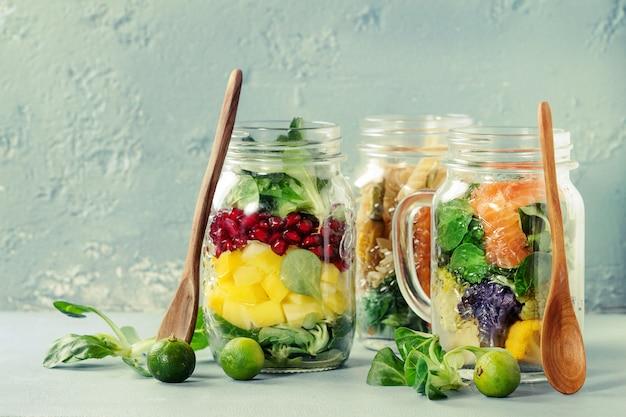 Salades en bocaux