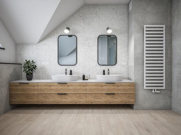 Salle de bain d'architecture 3d