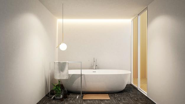 Salle de bain et balcon pour les oeuvres d'art d'un hôtel ou d'un appartement