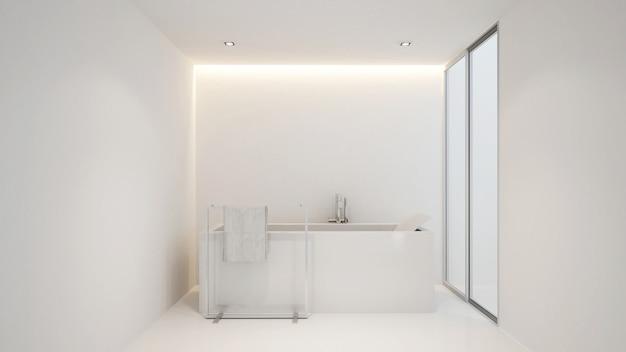 Salle de bain et balcon pour les oeuvres d'art d'un hôtel ou d'un condominium