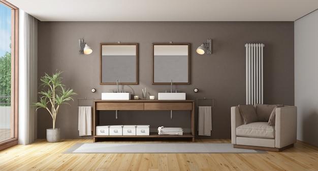 Salle de bain élégante avec double vasque