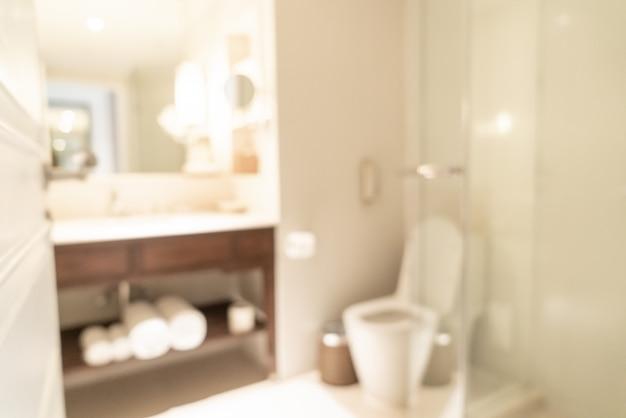Salle de bain flou dans l'hôtel resort pour le fond