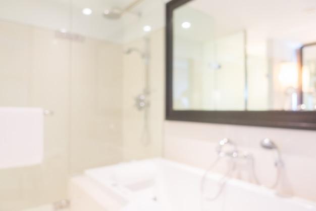 Salle de bains brouillé