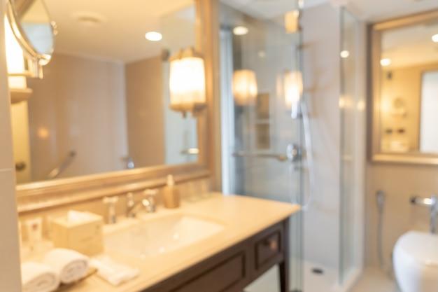 Salle de bains ou toilettes flou abstrait