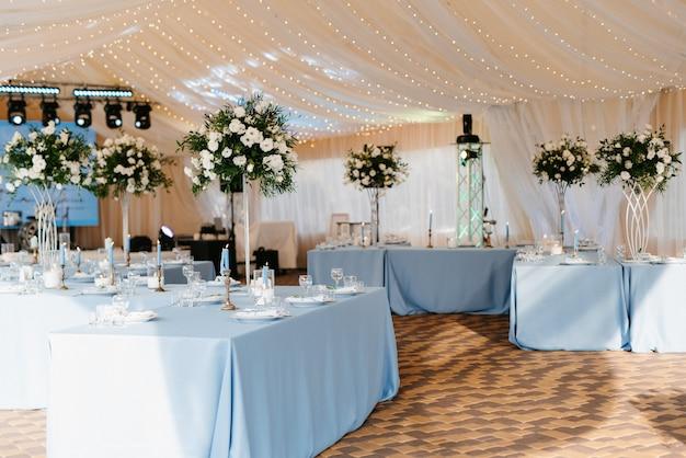 Salle de banquet pour mariages, décoration de salle de banquet