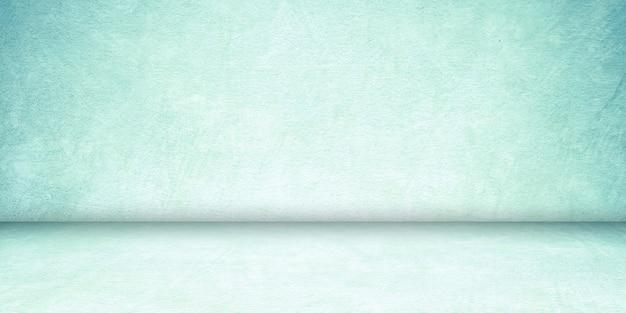 Salle de béton bleu vide et fond de plancher, béton dégradé de perspective bleu