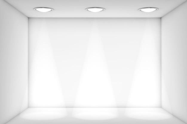 Salle blanche de plan rapproché extrême avec la lumière pour l'exposition