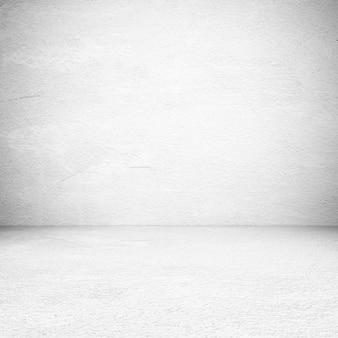 Salle de ciment blanc vide, arrière-plan, bannière, design d'intérieur, montage de l'affichage du produit, fond de maquette