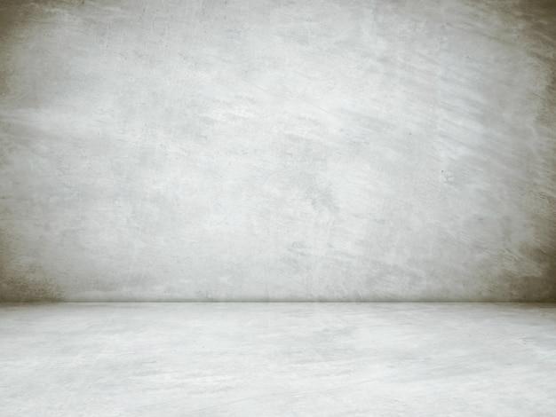 Salle de ciment gris vide en vue en perspective, fond grunge, style vintage, design d'intérieur, montage d'affichage produit