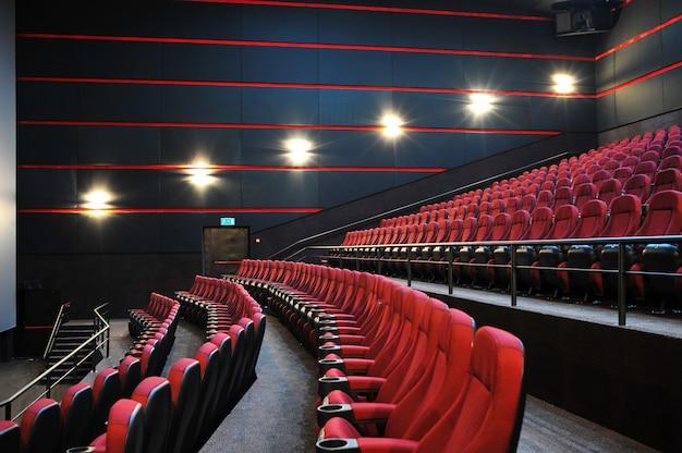 La salle de cinéma. à l'intérieur