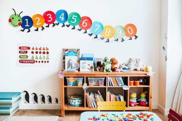 Salle de classe de design d'intérieur de la maternelle