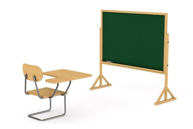 Salle de classe. rendu 3d isolé