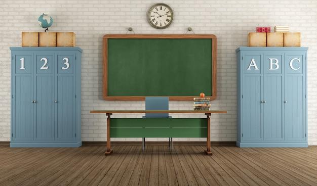 Salle de classe rétro