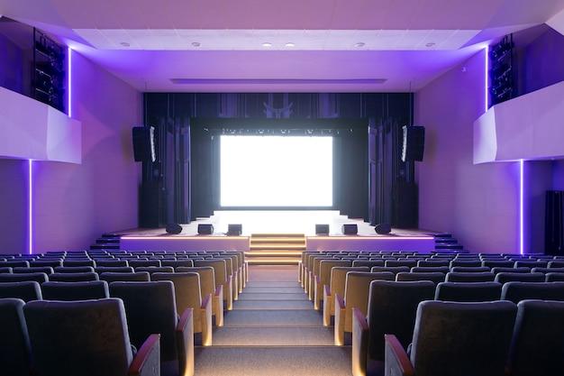 Salle de concert du théâtre avec chaises