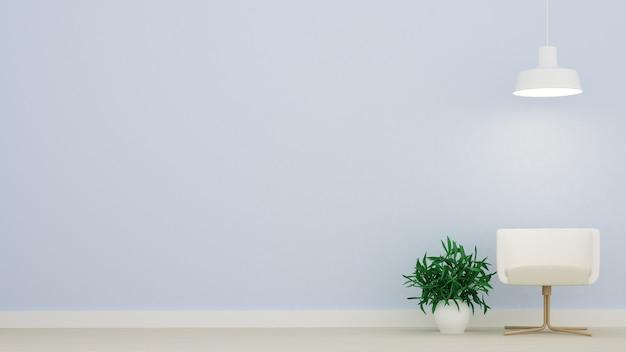La salle de l'espace de détente minimale intérieure en copropriété
