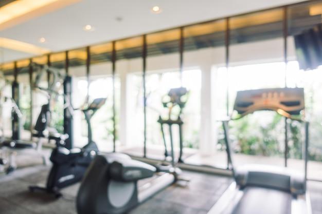 Salle de gym flou abstrait