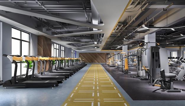 Salle de gym loft moderne et fitness