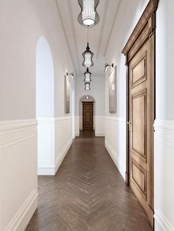 Salle lumineuse de style classique. rebder 3d.