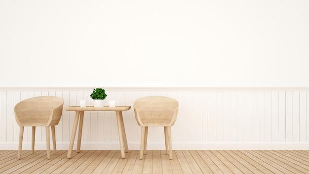Salle à manger sur bois design - rendu 3d