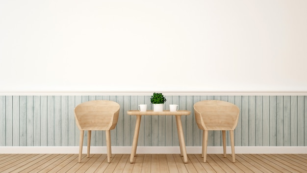 Salle à manger ro restaurant - rendu 3d