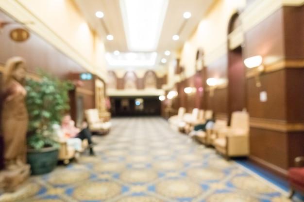 Salle de mariage flou abstrait