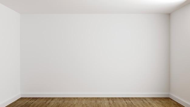 Salle de mur blanc dans la nouvelle maison