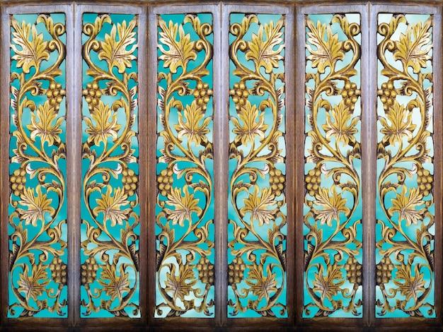 Salle partition art bois ciel bleu clair et fond d'art bois