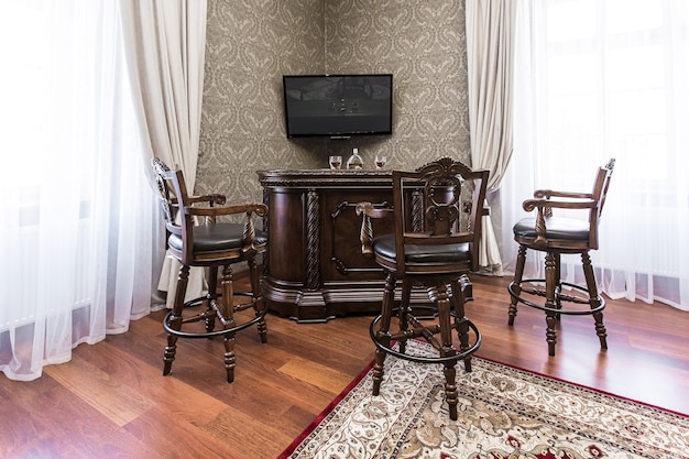 Salle de photographie intérieure dans un style classique