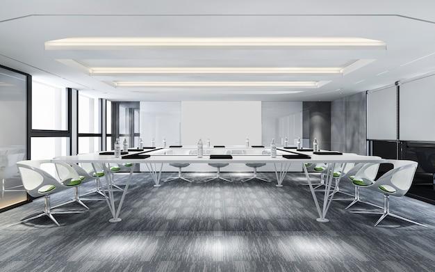 Salle de réunion d'affaires sur immeuble de bureaux de grande hauteur