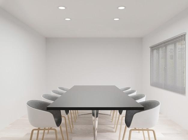 Salle de réunion avec des chaises