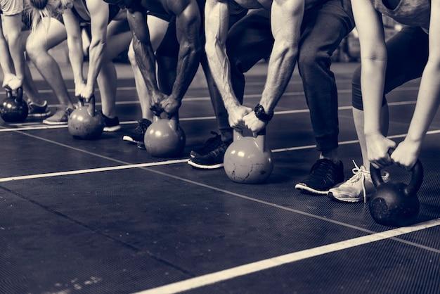 À la salle de sport
