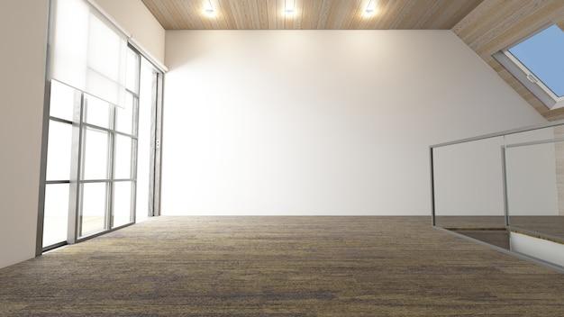Salle vide contemporaine 3d