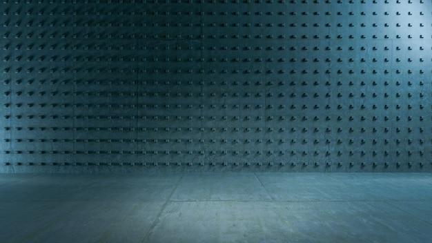 Salle vide, mur de béton. fond d'architecture abstraite.