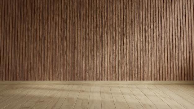 Salle vide murs en bois.