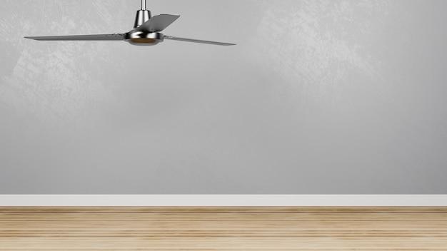 Salle vide avec ventilateur de plafond